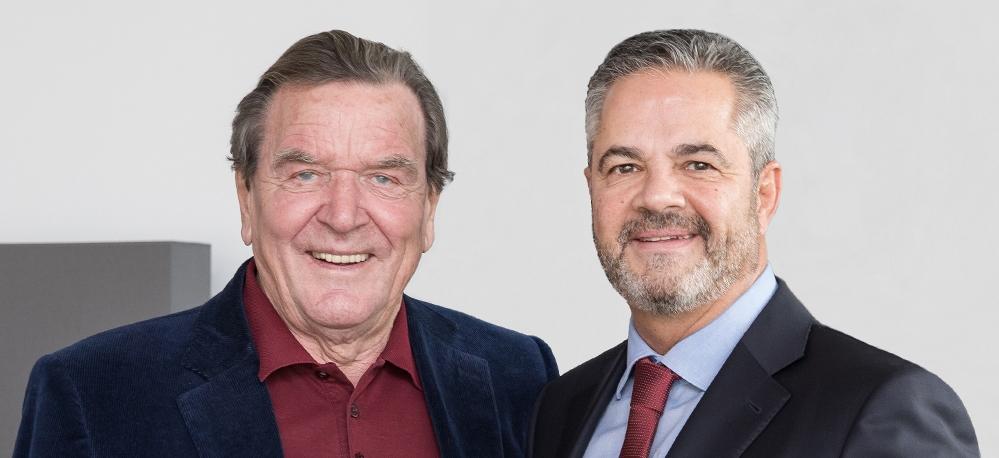 Gerhard Schröder und Michael Reizel